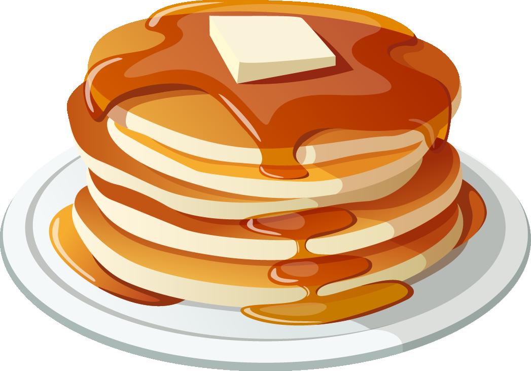 Apple in honey clipart vector transparent stock Pancake breakfast Pancake breakfast Bacon Clip art - Breakfast food ... vector transparent stock