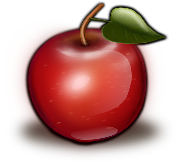 Apple in honey clipart image freeuse download Glossy Red Apple | Food | Pinterest | Red apple, Apples and Foods image freeuse download