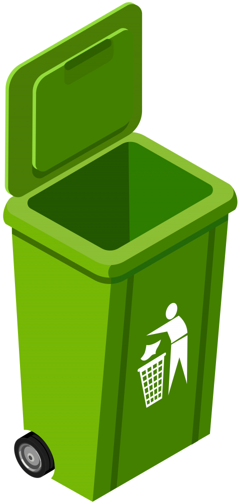 Apple in the trash clipart svg transparent download green trash can image png - Free PNG Images | TOPpng svg transparent download
