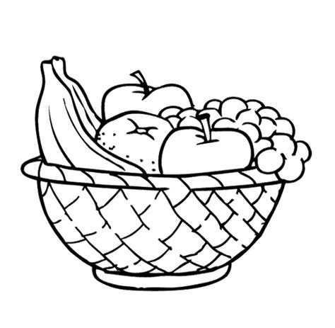 Apple ina bowl clipart black and white clip royalty free library Black And White Fruit Bowl - Ronniebrownlifesystems clip royalty free library