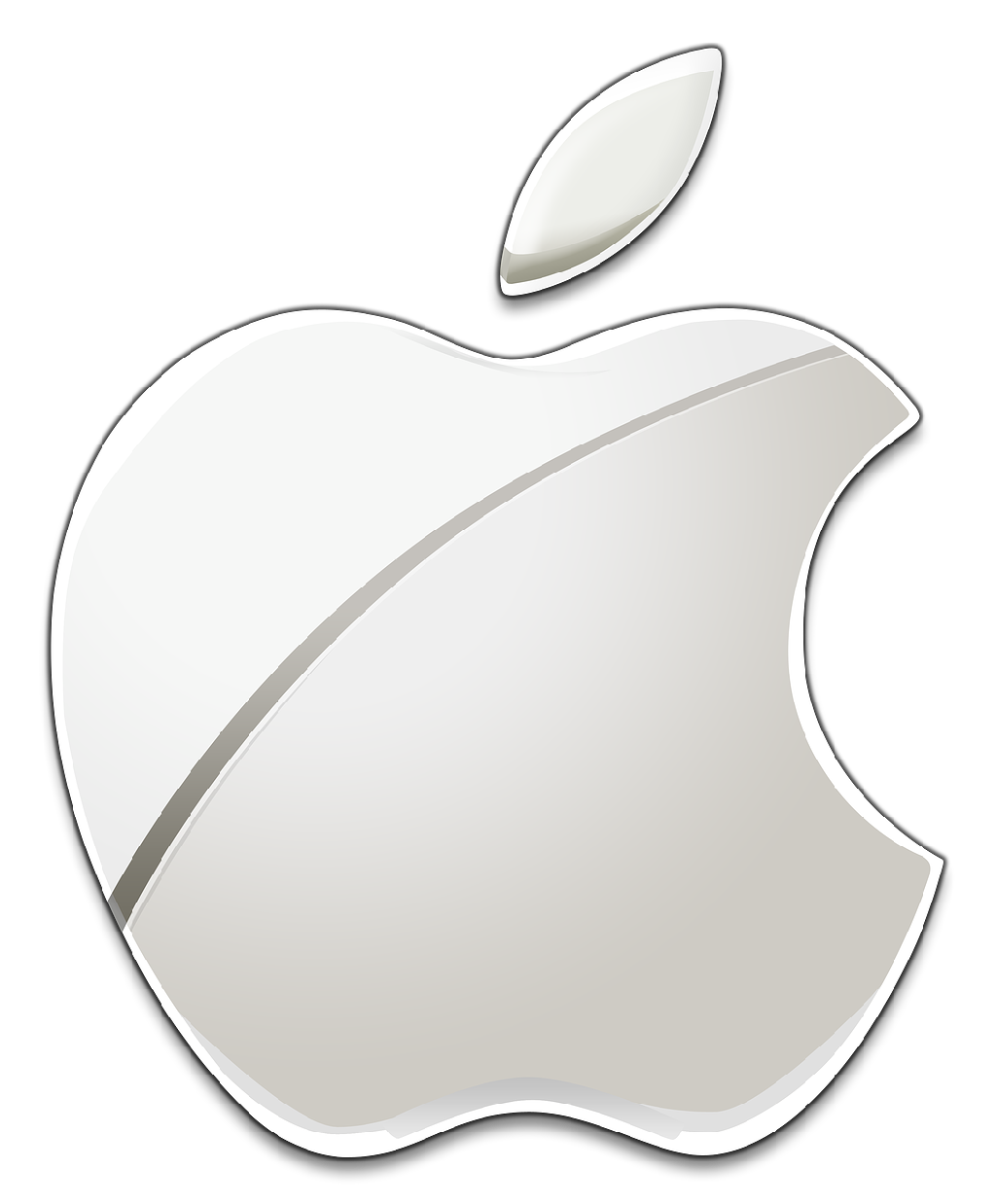 Apple inc clipart black and white png black and white stock Logo Apple Ios PNG Transparent Logo Apple Ios.PNG Images. | PlusPNG png black and white stock