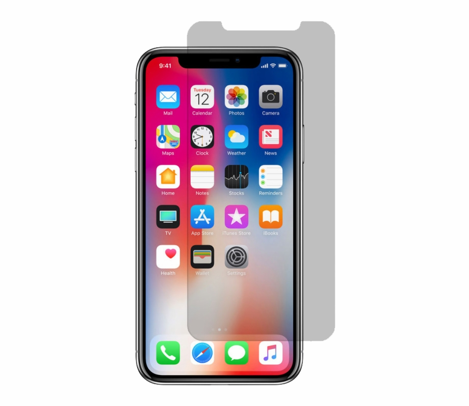 I phone x clipart clip art transparent library Apple Iphone X/xs Tempered Glass Screen Protector - Iphone X Plus ... clip art transparent library