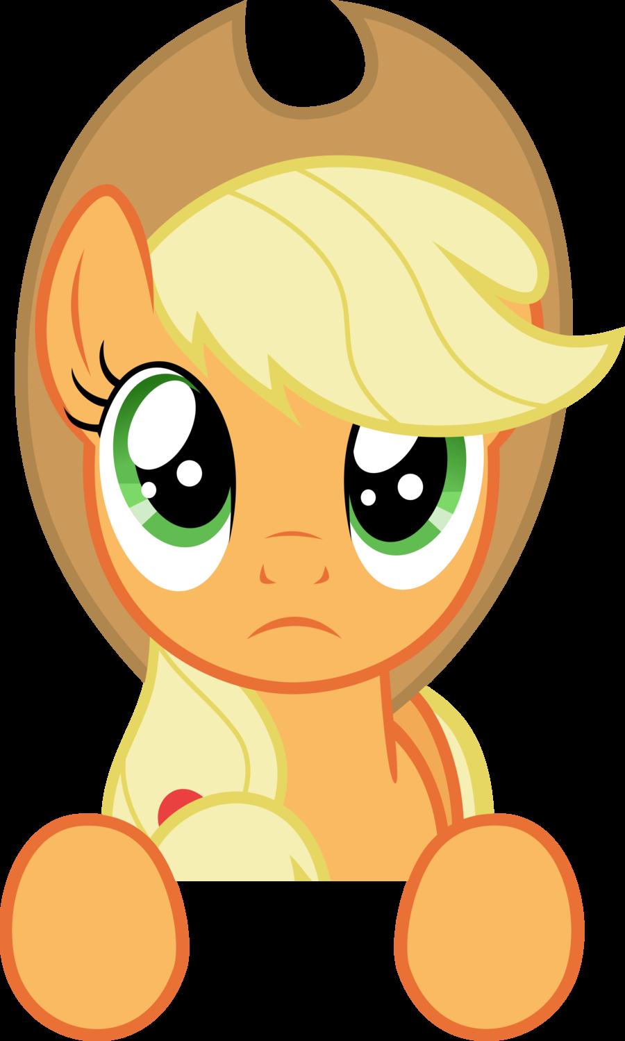 Apple jack clipart free stock DeviantArt: More Like My Little Pony vector - sad Applejack by ... free stock