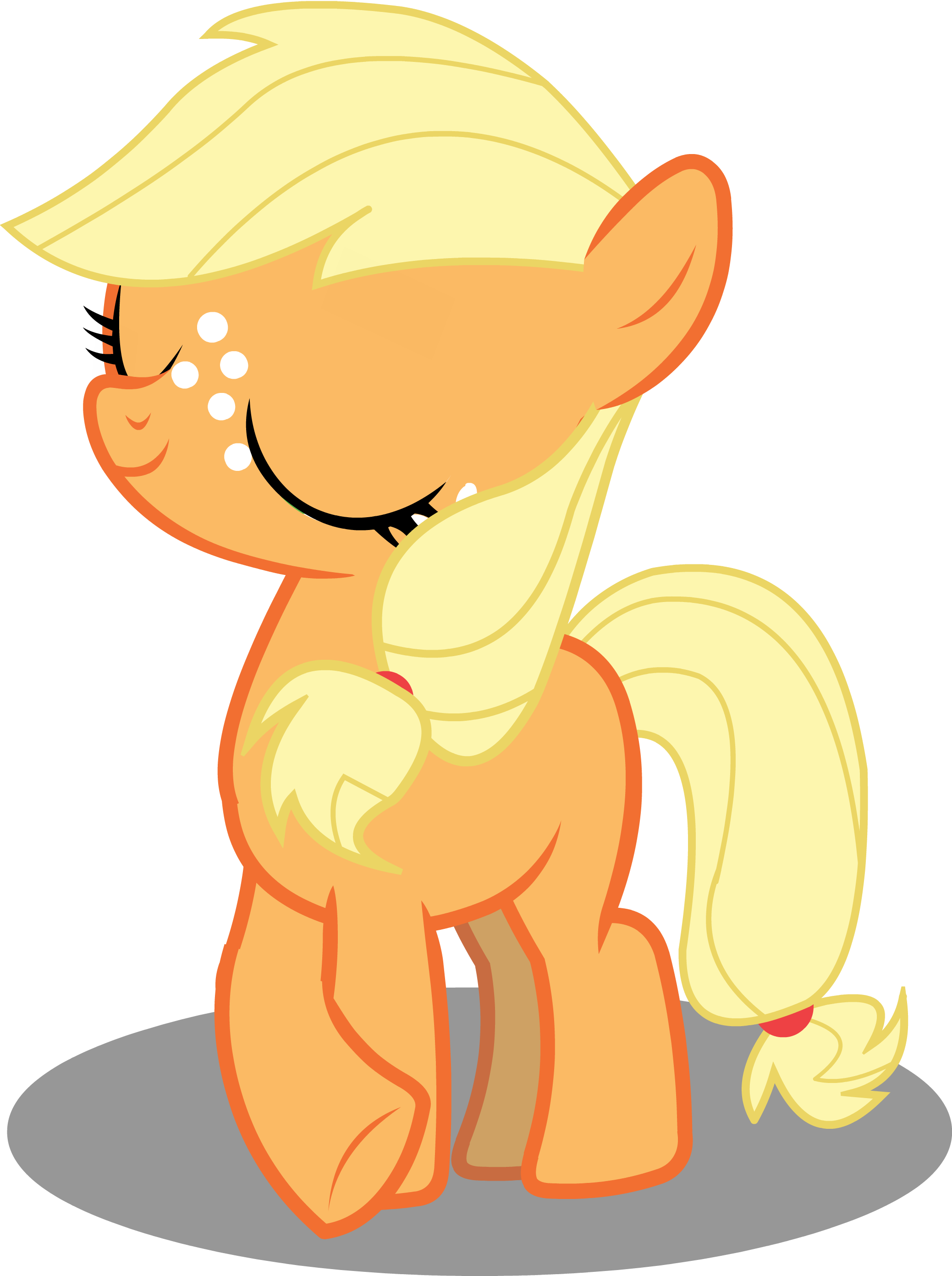 Apple jax cerel clipart graphic MLP - Filly Applejack being Ladylike (Buck Some Apples with us ... graphic
