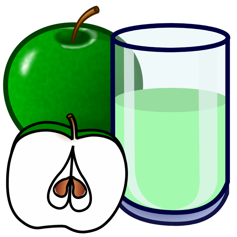 Apple juice clipart clip black and white download Symbol Food Apple - TalkSense clip black and white download