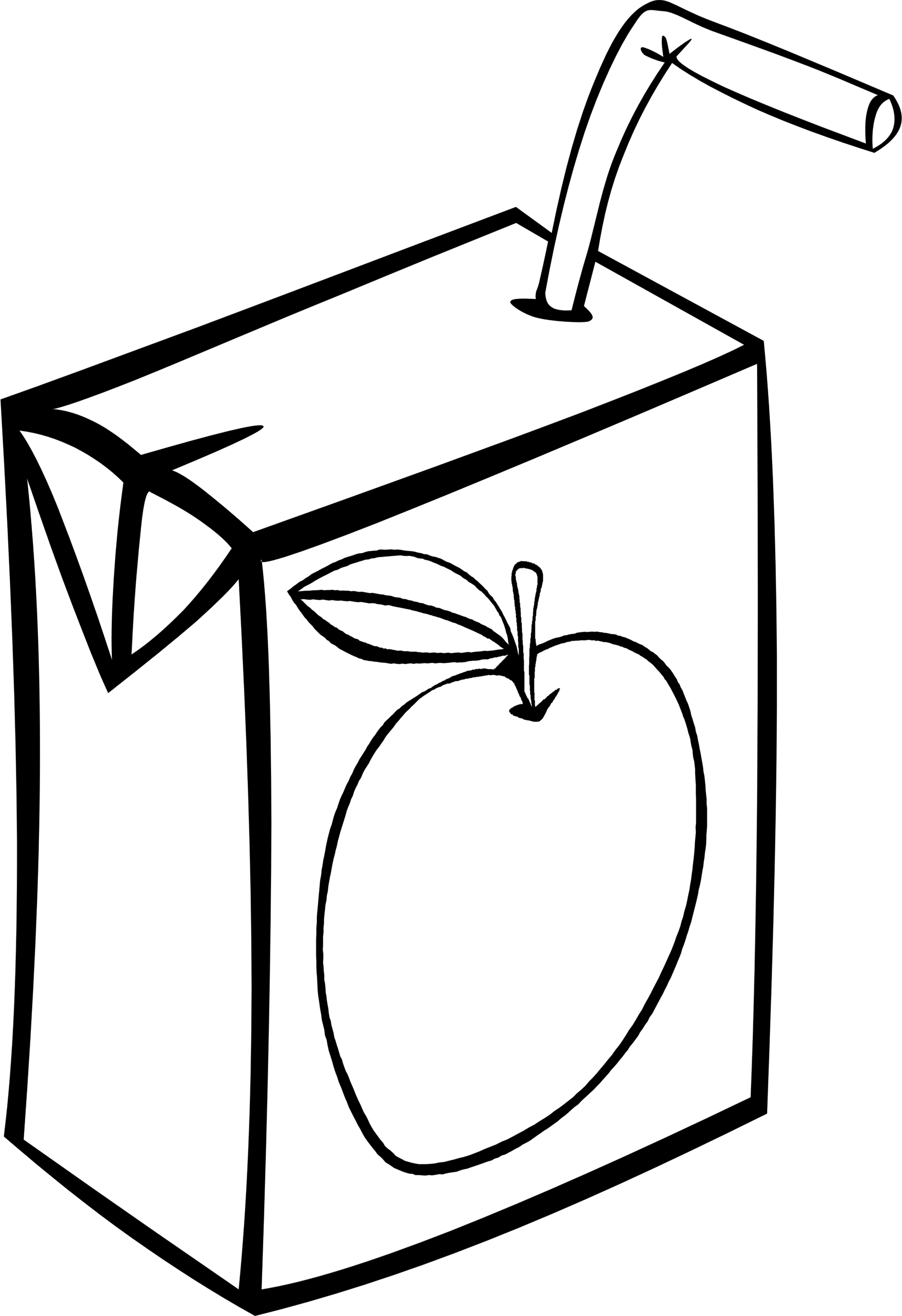Black and white free clipart apple juice picture transparent Clipart - Fast Food, Drinks, Juice, Apple picture transparent