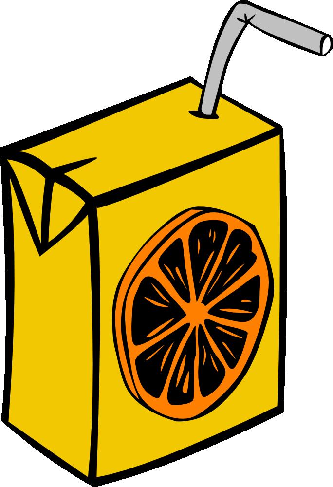 Apple juice clipart clip transparent library OnlineLabels Clip Art - Orange Juice Box clip transparent library
