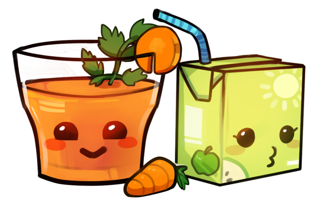 Apple juice clipart png graphic royalty free Carrot Juice + Apple Juice by Reis-ARTroom on DeviantArt graphic royalty free