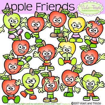 Apple kids clipart jpg library library Apple Kids Apple Friends Clipart Apple Emotions Clipart Clip Art jpg library library