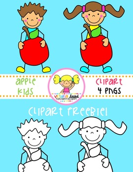 Apple kids clipart picture library stock Apple Kids Clipart Freebie picture library stock