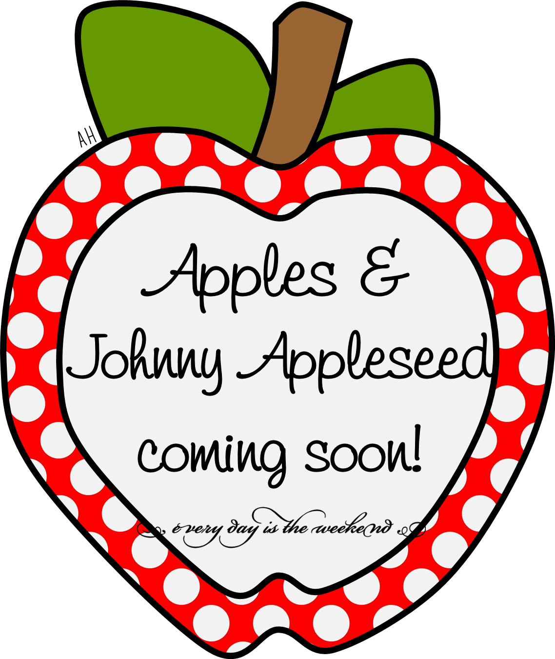 Apple life cycle clipart svg transparent Apples and Johnny Appleseed Activities Coming Soon! | Every Day Is ... svg transparent