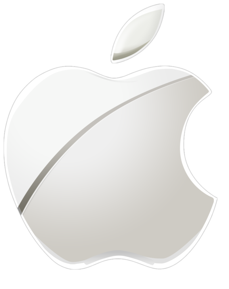 Apple logo clipart vector royalty free stock Apple Logo Large by smeddles24 on DeviantArt vector royalty free stock