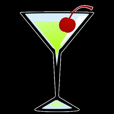 Apple martini clipart