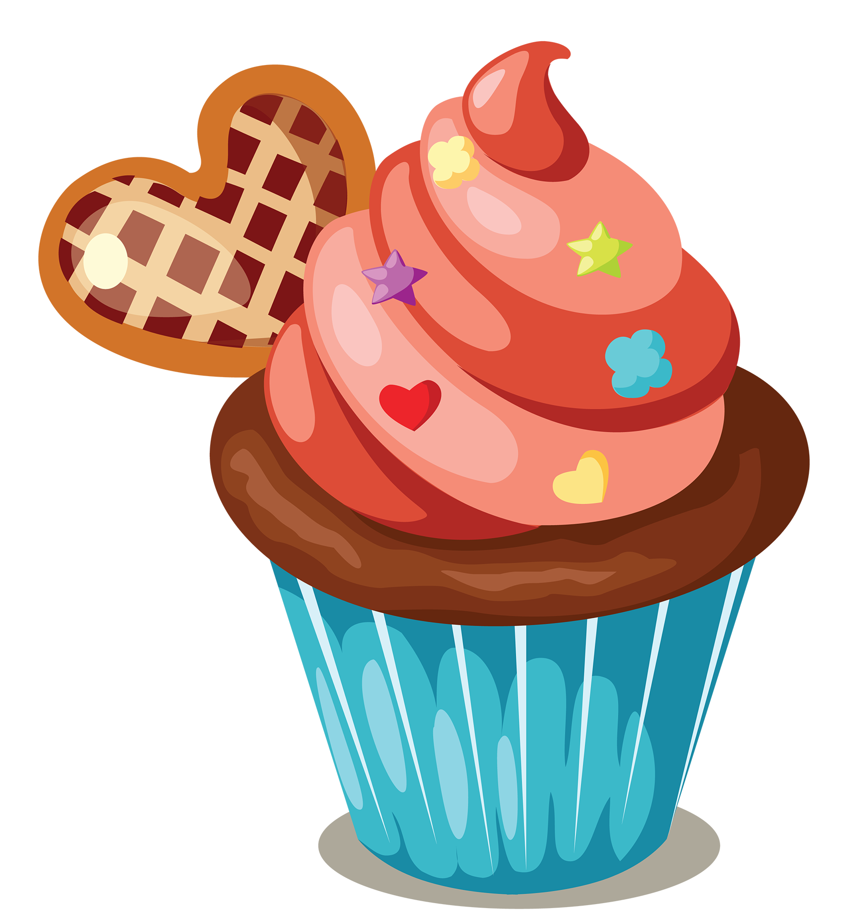Apple with muffins clipart svg free library Cupcake Icing Birthday cake Muffin Clip art - Delicious cupcakes ... svg free library