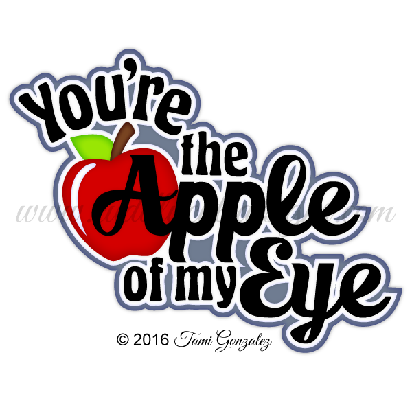 Apple of my eye clipart