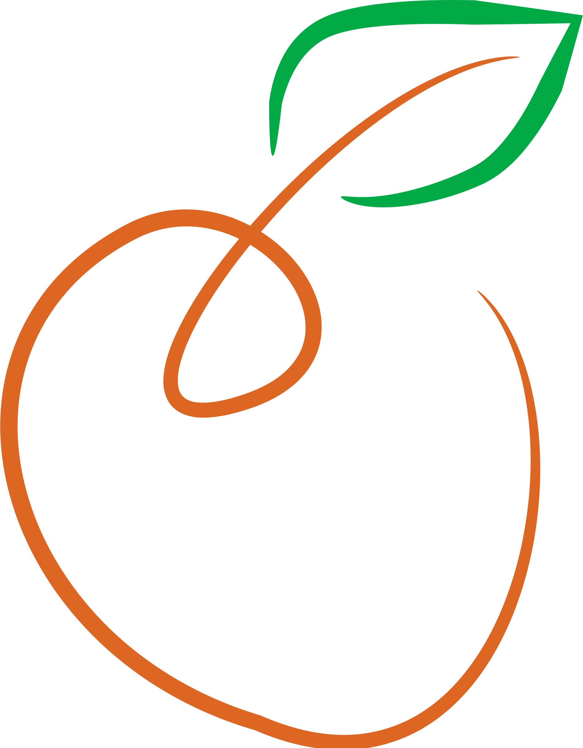 Apple orange clipart image freeuse Clipart - Orange-Colored Apple image freeuse