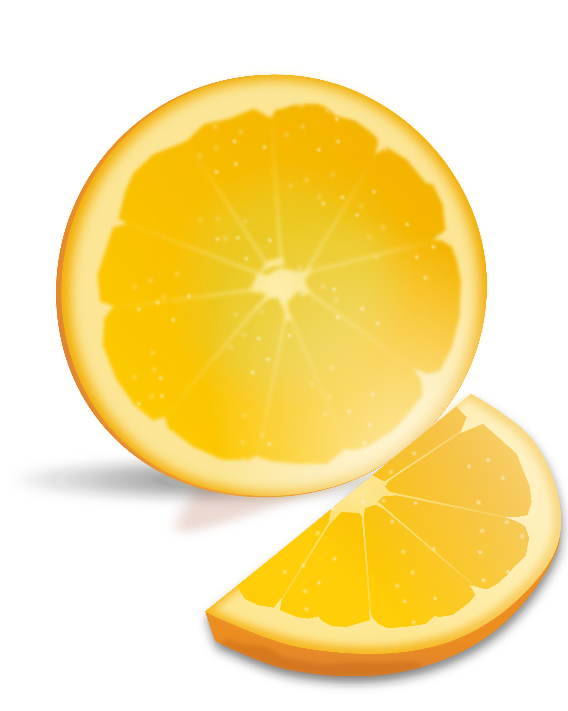 Apple orange lemon clipart image freeuse library Clipart - Orange Slice image freeuse library