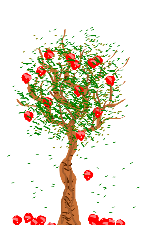Apple tree digital clipart vector freeuse Apple orchard clip art 4058010 - billigakontaktlinser.info vector freeuse
