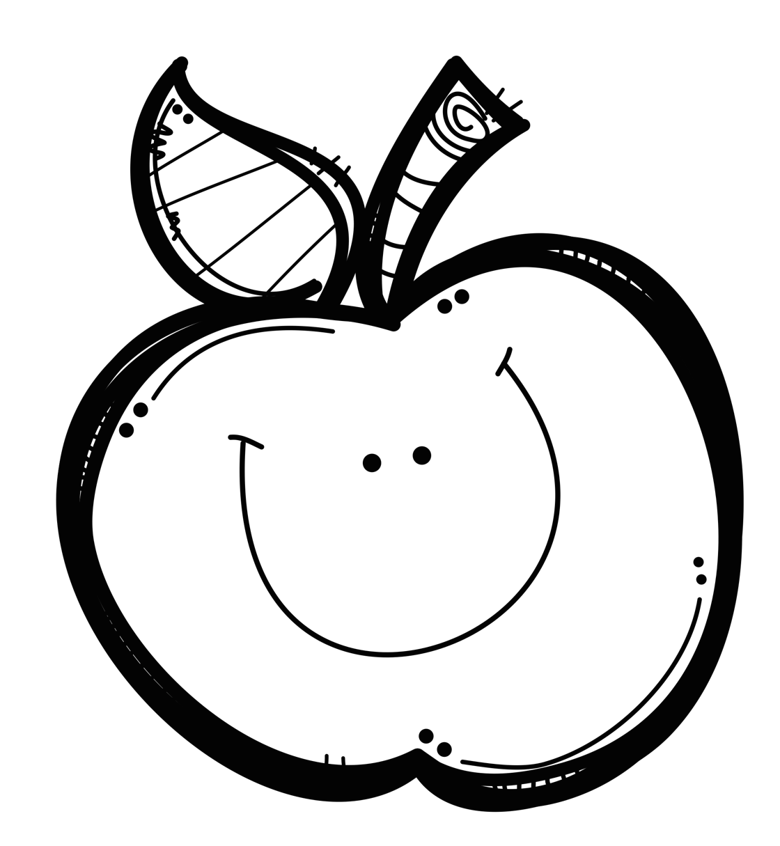 Library Of Apple Orchard Free Black And White Png Files