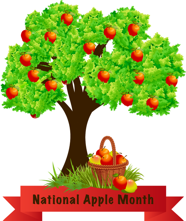 Apple parts clipart graphic transparent stock National Apple Month | clipart by steve huckabey | Pinterest ... graphic transparent stock