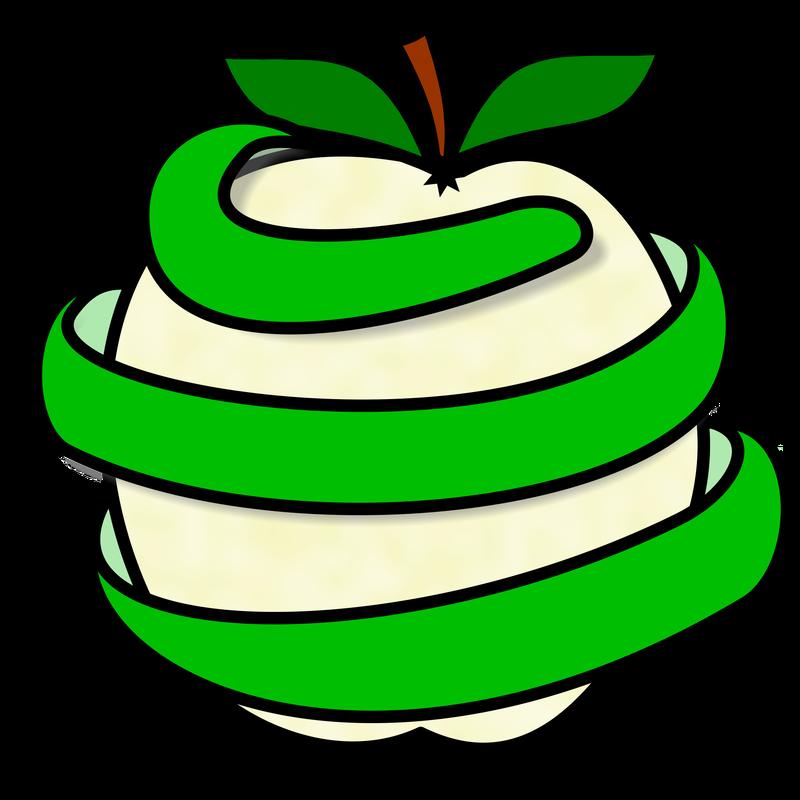 Apple peel clipart vector free library Symbol Food Apple - TalkSense vector free library