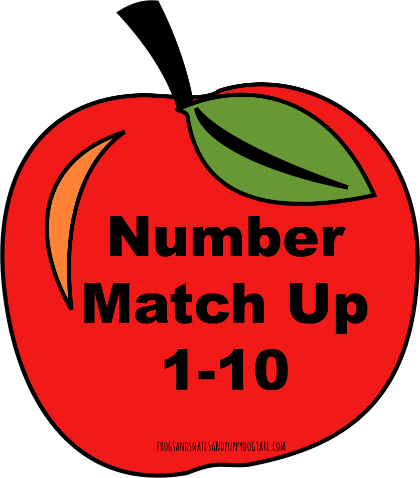 Number one apple clipart clip free download Apple Number Match Up Activity - FSPDT clip free download