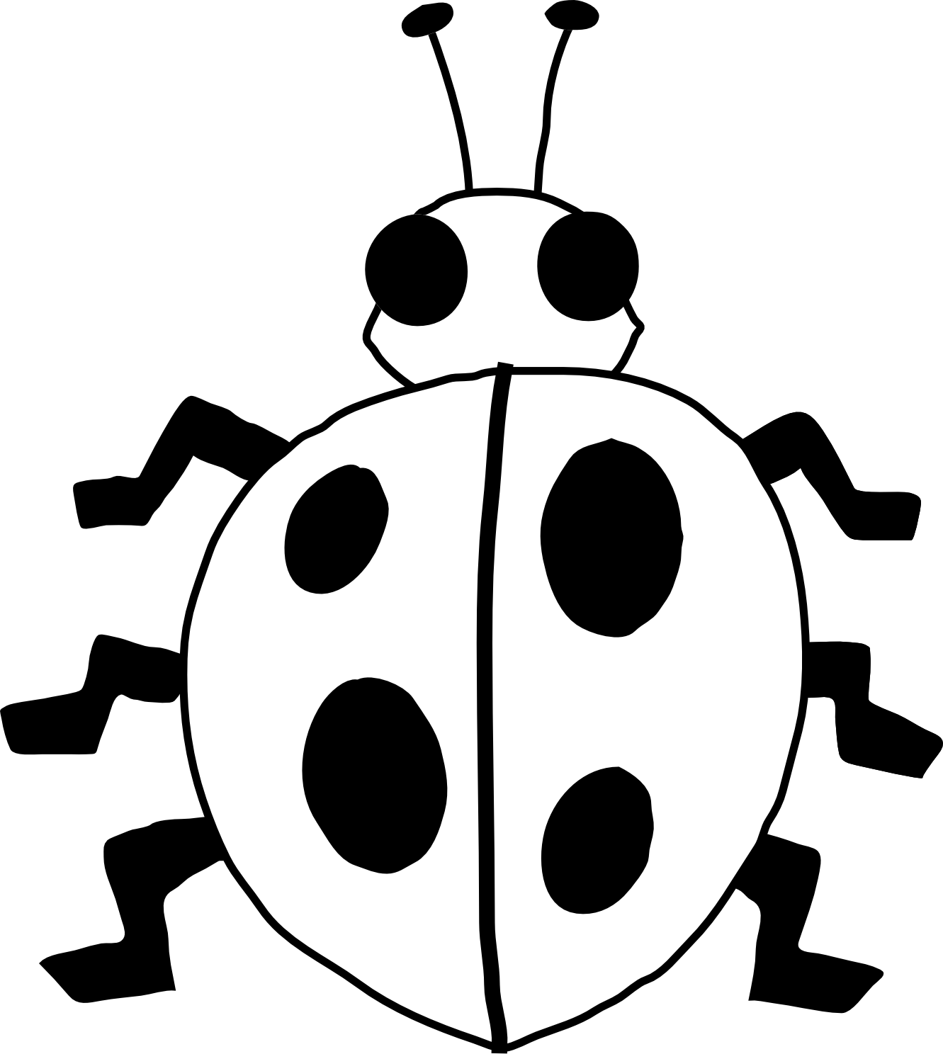 Book clipart vector picture black and white download ladybug 21 black white line art flower scalable vector graphics ... picture black and white download