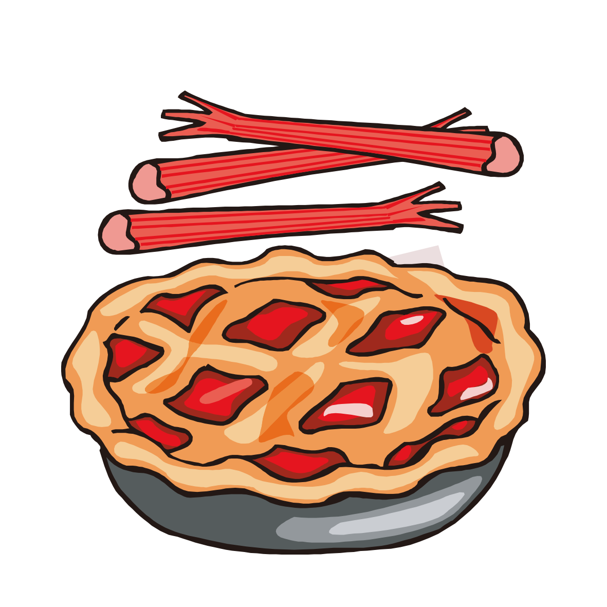 Clipart pumpkin pie jpg freeuse library Rhubarb pie Strawberry pie Pumpkin pie Apple pie Clip art - Bacon ... jpg freeuse library