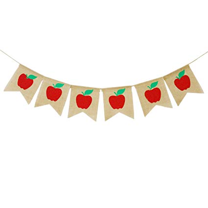 Apple preschool banner clipart svg free library Apples Banner Burlap - Back To School Banner - Fall Banner - School Banner  - Classroom Decor - Teacher Gifts - Apple Themed Party Decorations svg free library
