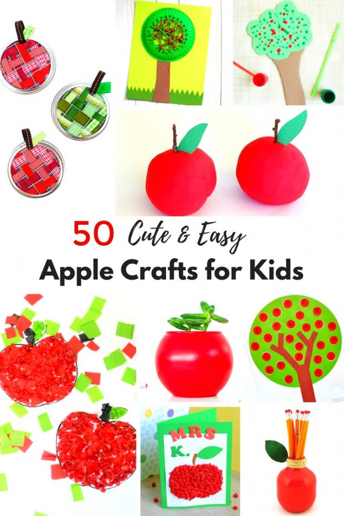 Apple preschool banner clipart clipart freeuse stock 50+ Apple Crafts for Kids - Natural Beach Living clipart freeuse stock