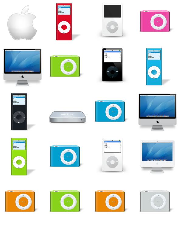 Apple products clipart banner black and white library Apple Products - 23 Free Icons, Icon Search Engine banner black and white library