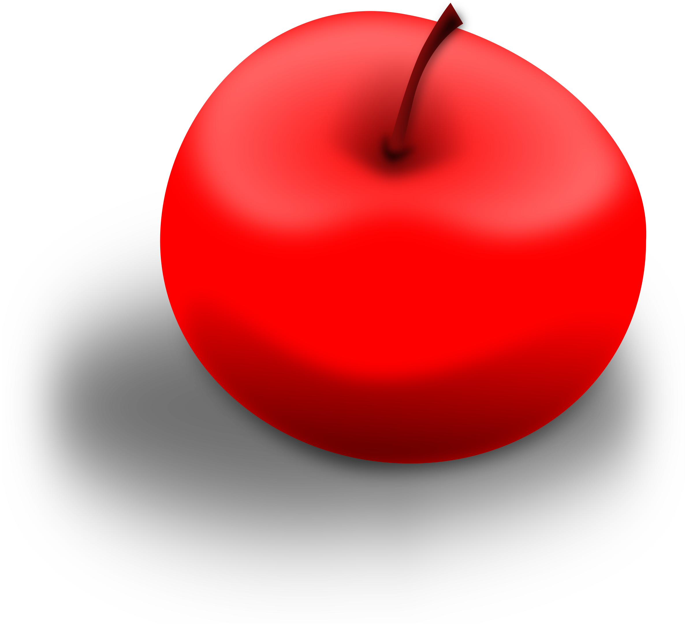 Apple red clipart vector library stock Clipart - Apple Red vector library stock