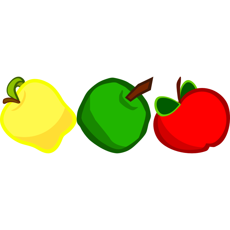 Apple red yellow and green clipart clip art royalty free Red Yellow Green Apple Clip Art clip art royalty free