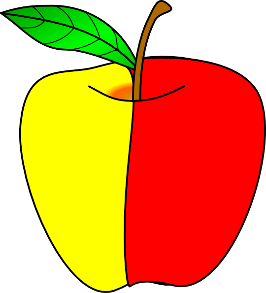 Apple red yellow and green clipart image freeuse Apple Clip Art at Clker.com - vector clip art online, royalty free ... image freeuse