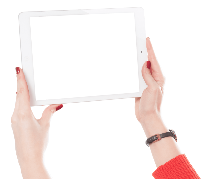 Apple releases ipad 2 clipart jpg library library woman hands holding ipad png - Free PNG Images   TOPpng jpg library library