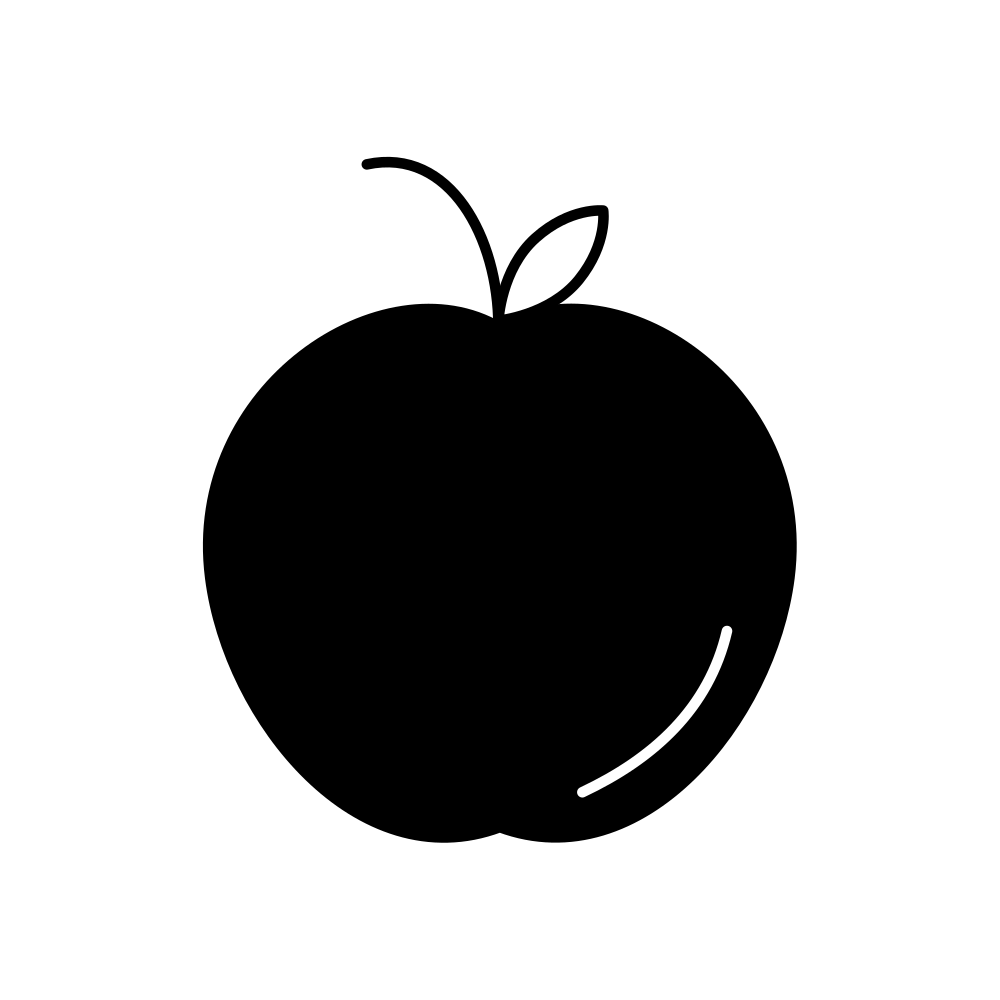 Apple rosh hashana clipart svg download File:Apple icon black.svg - Wikimedia Commons svg download