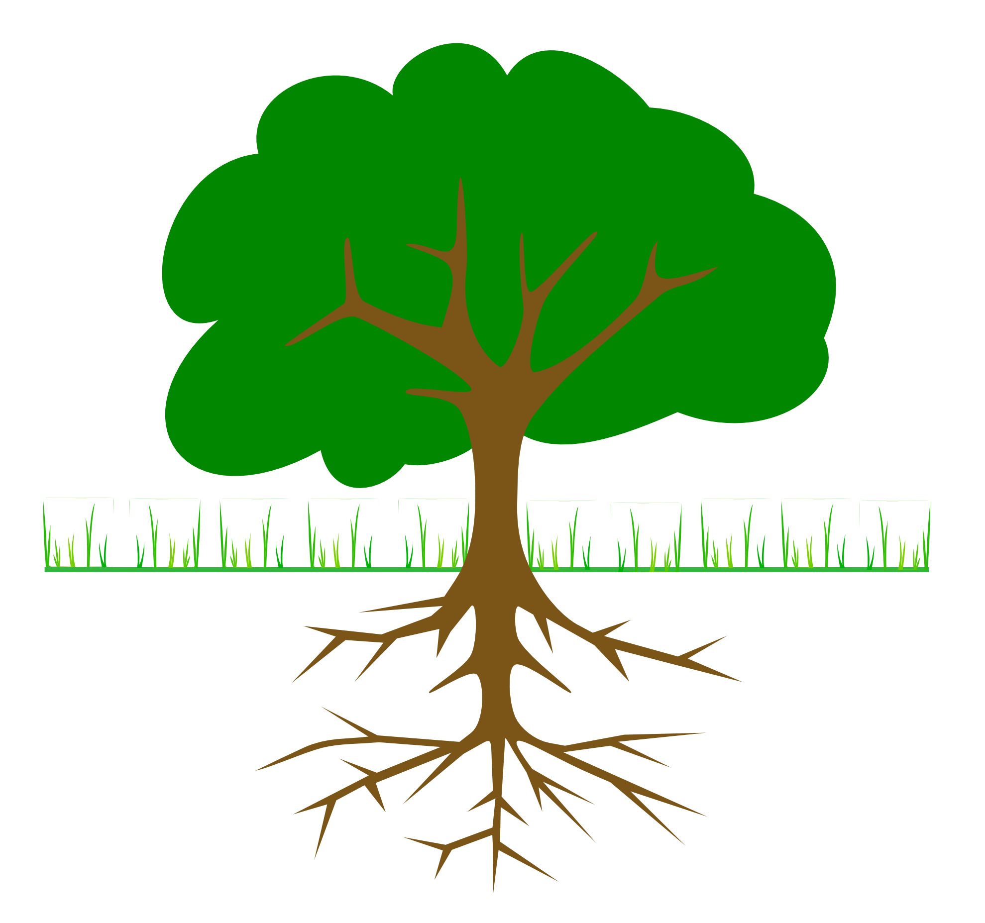 Tree with initials clipart picture library Plant With Roots Clipart | Clipart Panda - Free Clipart Images picture library