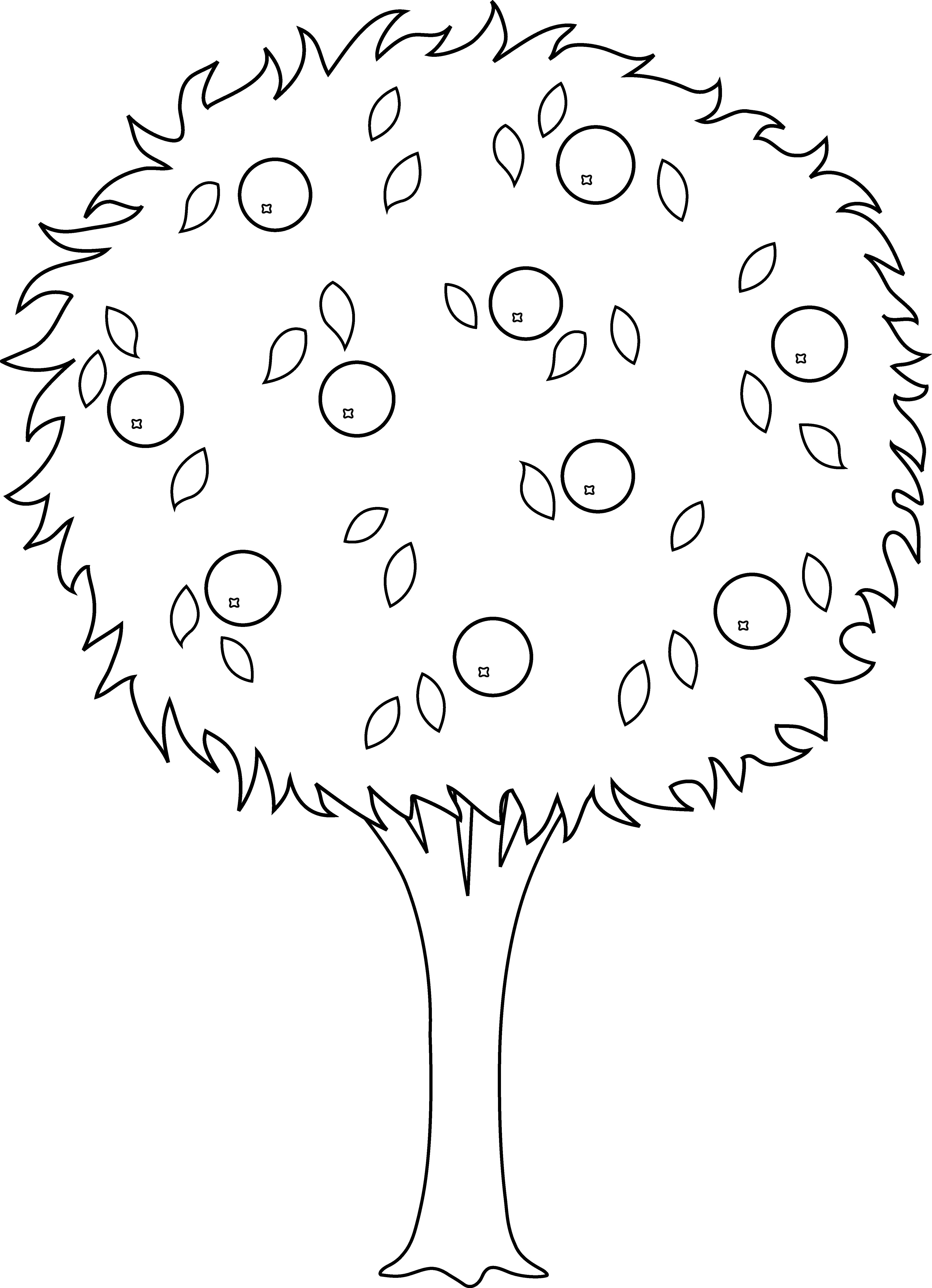 Apple tree digital clipart clipart library download Nice Design Of Black and White Tree Clipart - Best Home Design Ideas ... clipart library download
