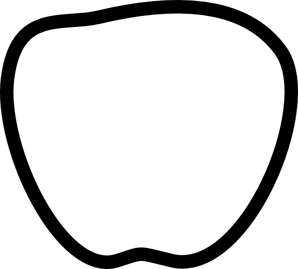 Apple shape of letter a clipart png transparent Apple Black And White Clip Art at Clker.com - vector clip art online ... png transparent