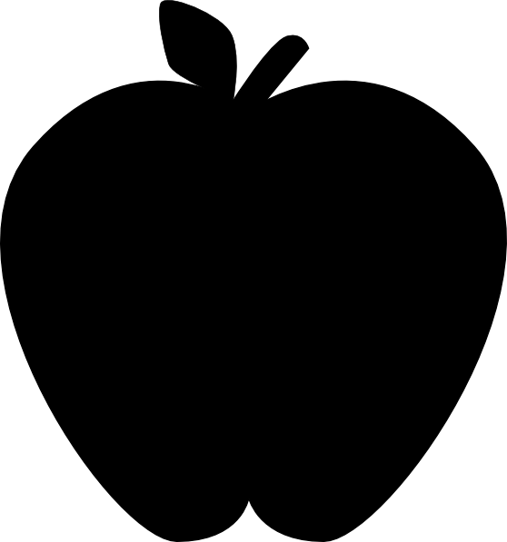 Apple silhouette clipart clip free Black Apple-2 Clip Art at Clker.com - vector clip art online ... clip free