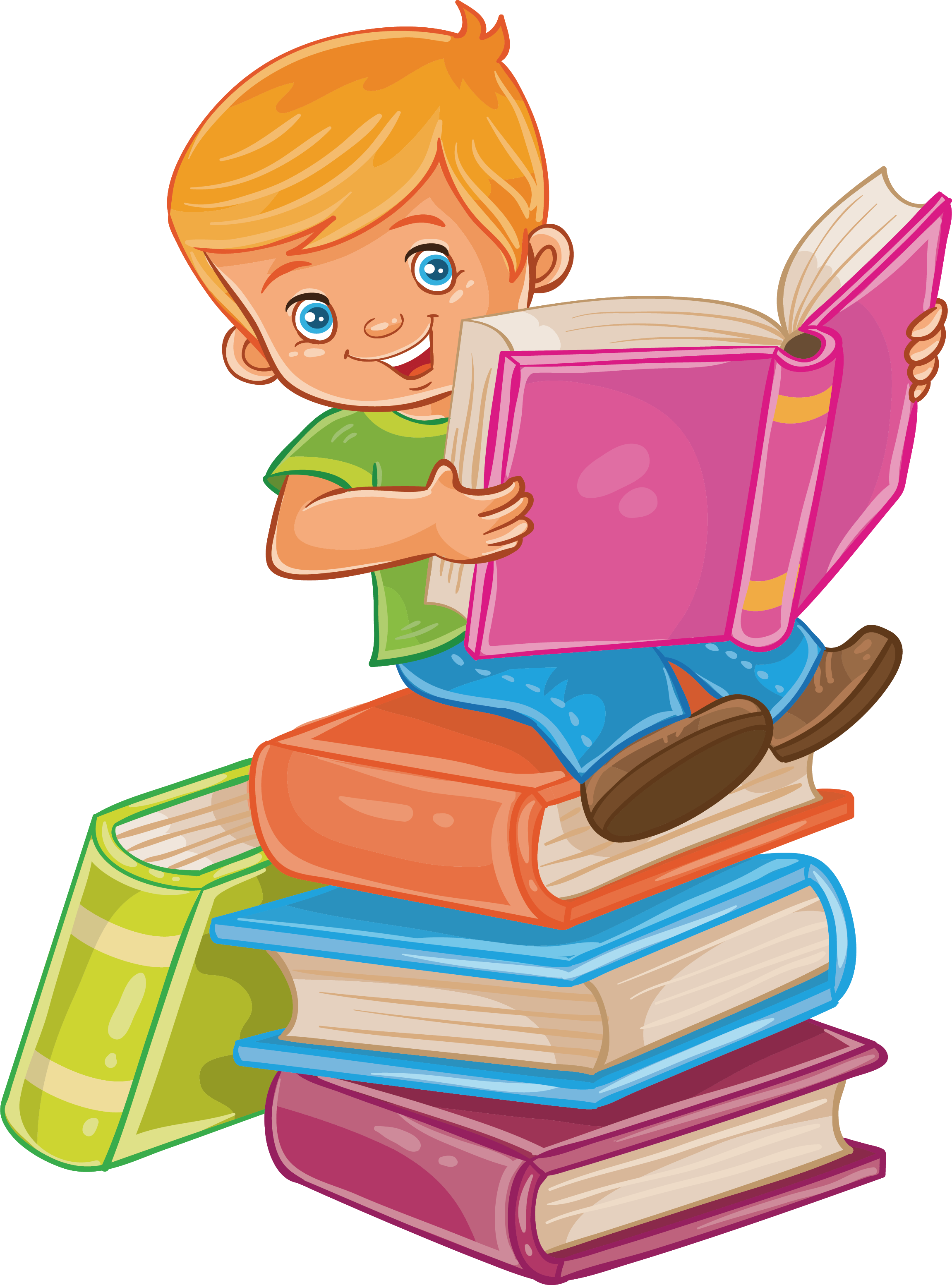 Apple sitting on books clipart png black and white stock Child Reading Royalty-free Illustration - Sit in a book, read a Book ... png black and white stock