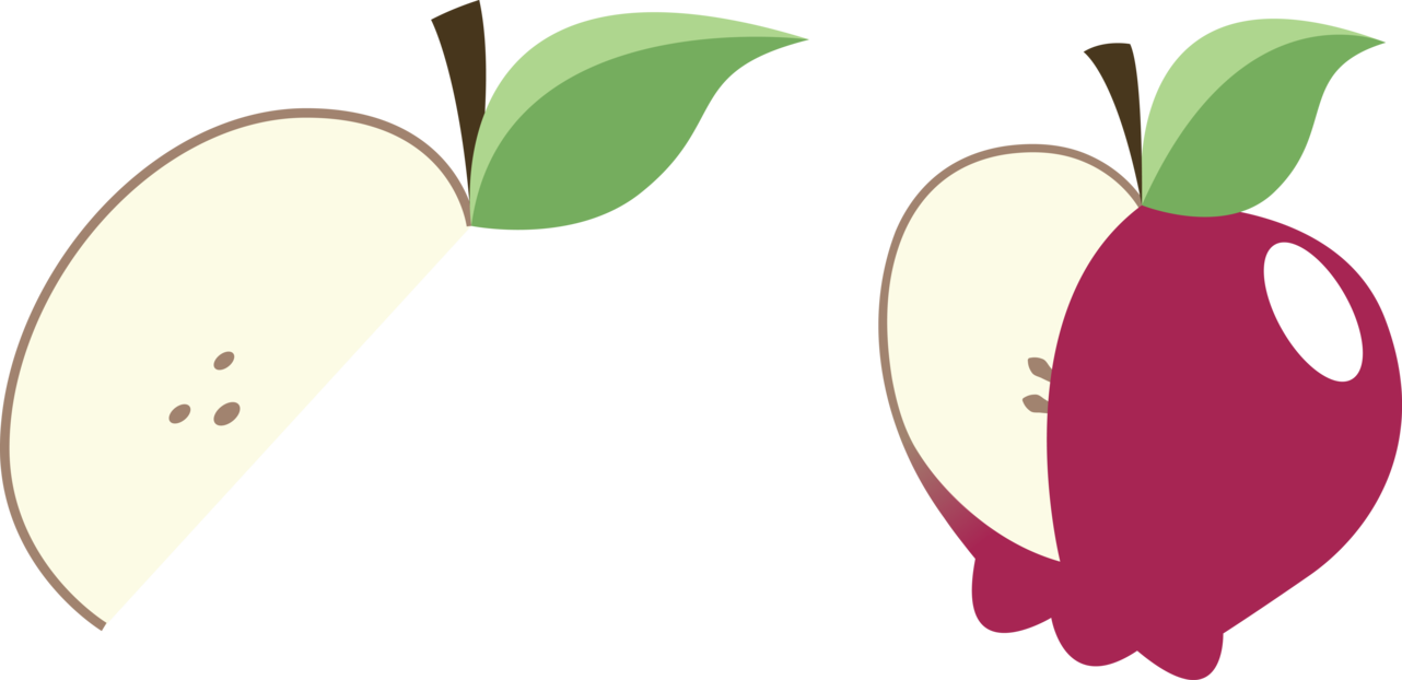Apple slices clipart png jpg black and white library Flim and Flam Cutie Marks by SirCxyrtyx on DeviantArt jpg black and white library