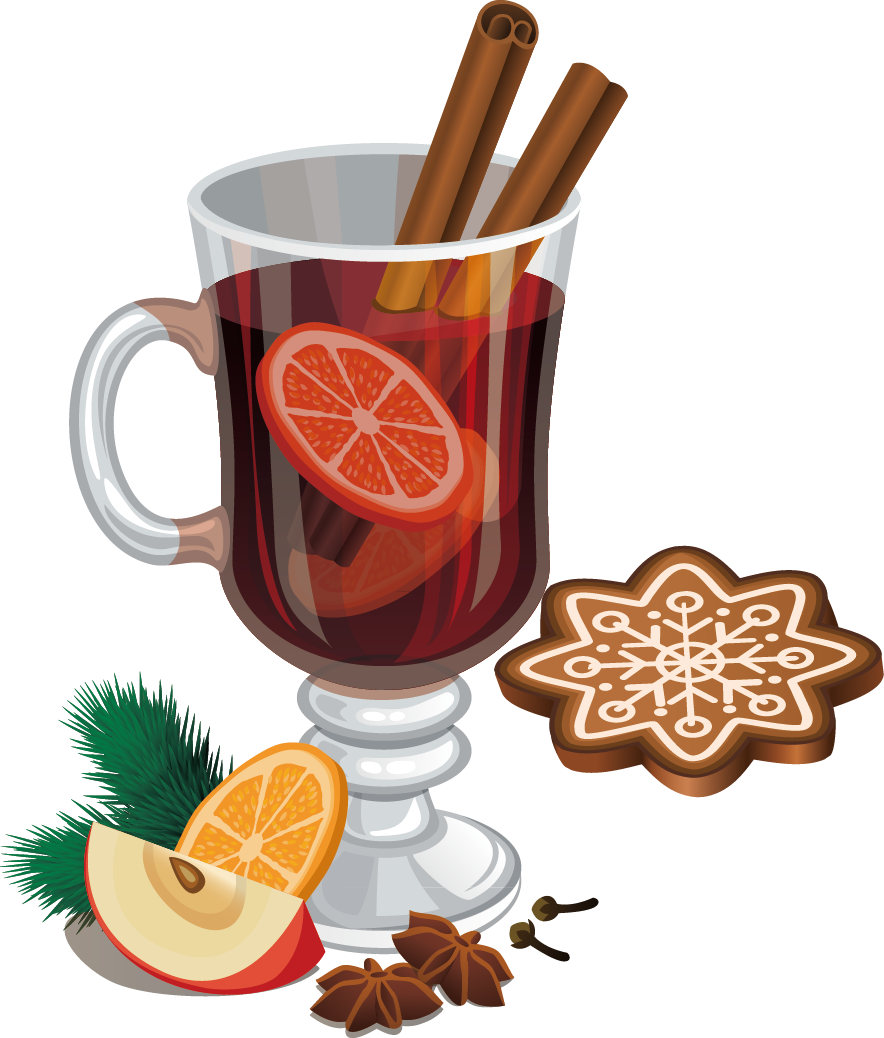 Apple spice clipart mixed drink clip art royalty free stock Mulled Wine Cocktail Cinnamon roll Christmas Clip art - Foreign ... clip art royalty free stock