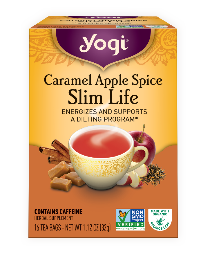 Apple spice clipart mixed drink clipart black and white Caramel Apple Spice Slim Life   Yogi Tea clipart black and white