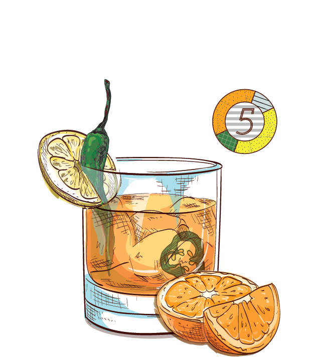 Apple spice clipart mixed drink clip black and white stock Cocktails — Espirito XVI Ultra-Premium Small-Batch Cachaça clip black and white stock