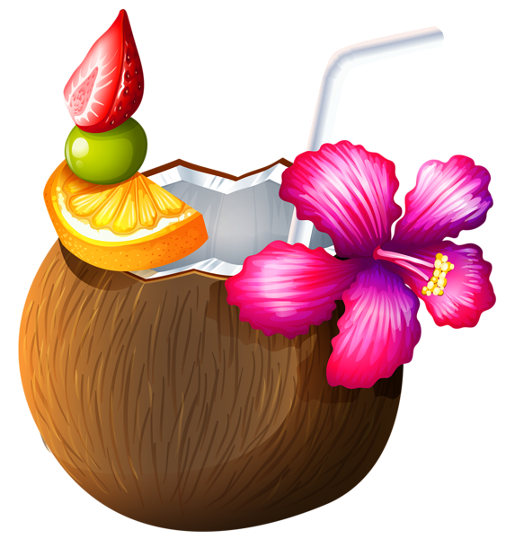 Apple spice mixed drink clipart png free download Exotic Coconut Cocktail PNG Clipart | cocktails | Pinterest | Exotic ... png free download