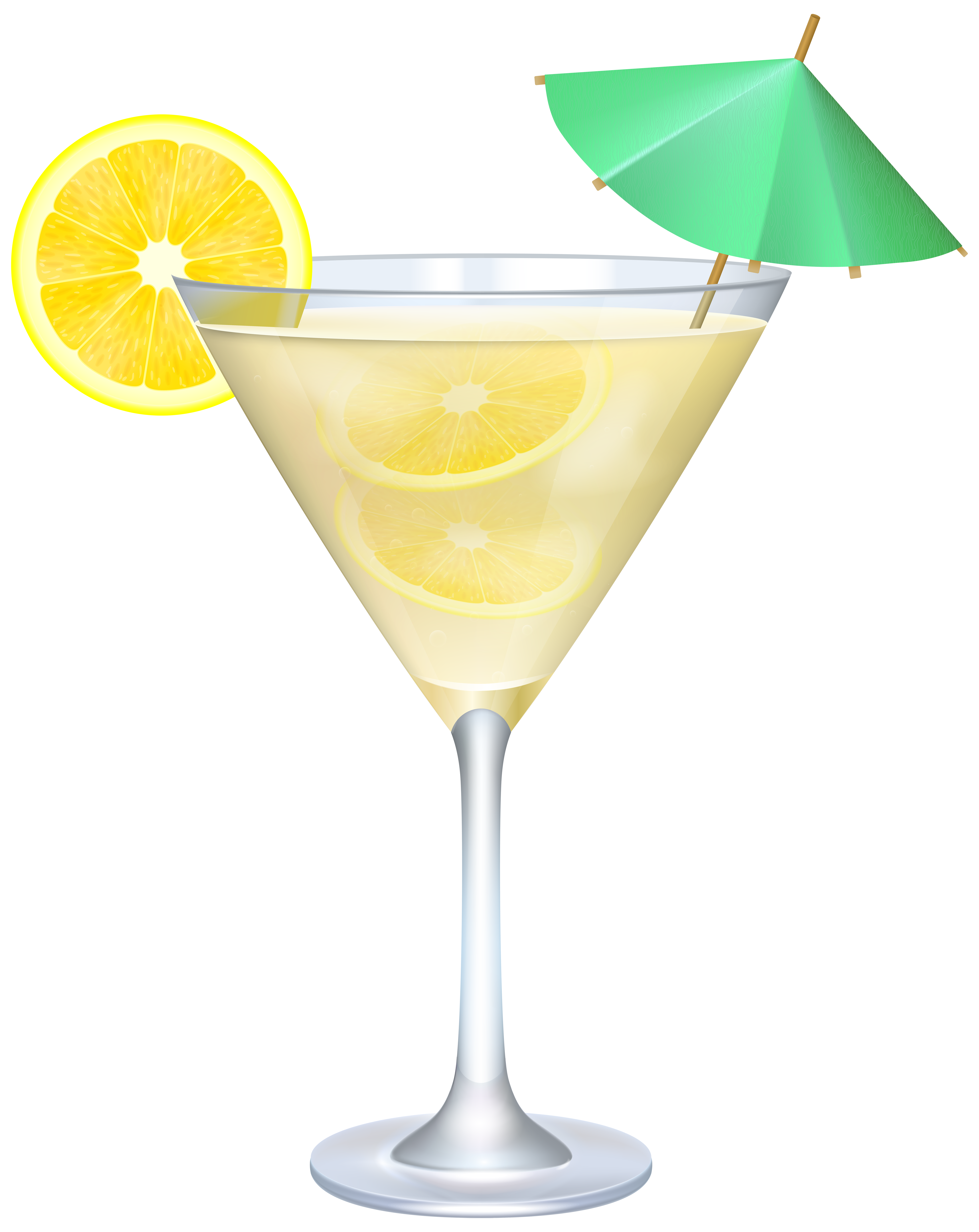 Apple spice mixed drink clipart image transparent library Cocktail with Lemon and Umbrella PNG Clip Art Image | backgrounds ... image transparent library