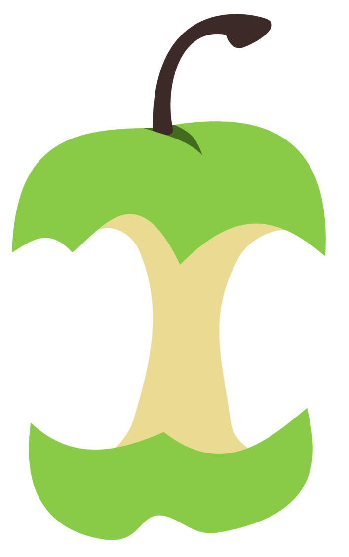 Apple split clipart clipart stock Apple core cutie mark by The-Smiling-Pony on DeviantArt clipart stock