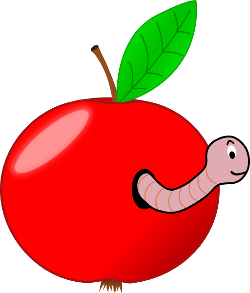 Apple split clipart svg transparent Red Apple With A Worm Clipart | i2Clipart - Royalty Free Public ... svg transparent