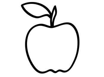 Apple stem clipart free image royalty free stock Apple Clipart Black And White | Clipart Panda - Free Clipart Images image royalty free stock
